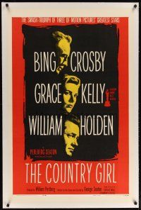 2e119 COUNTRY GIRL linen 1sh R59 Grace Kelly, Bing Crosby, William Holden, by Clifford Odets!