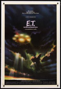 2e136 E.T. THE EXTRA TERRESTRIAL linen advance 1sh '82 best spaceship image, rolled never folded!