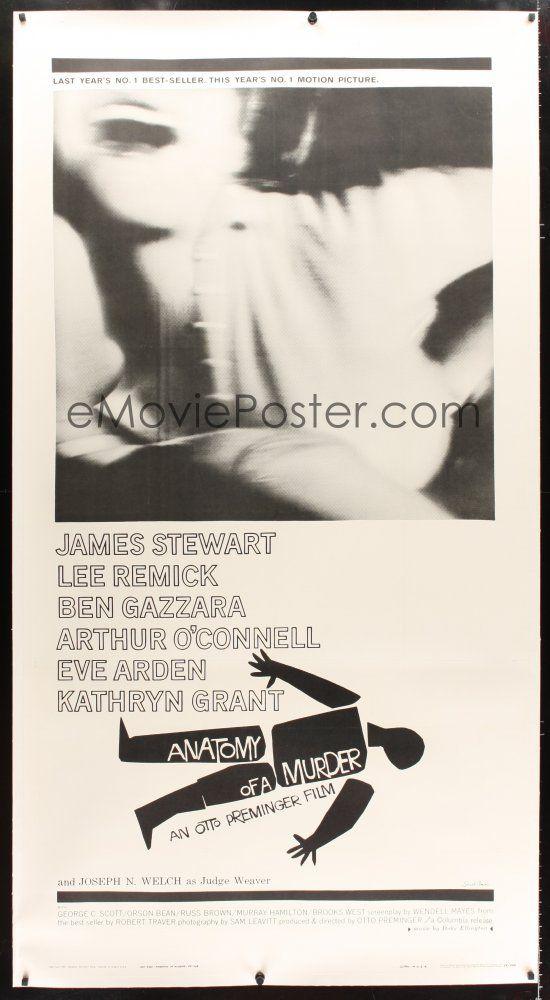 2f037 ANATOMY OF A MURDER linen 3sh \'59 Otto Preminger, classic Saul ...