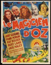 2g188 WIZARD OF OZ Belgian '46 wonderful different montage artwork of top cast, incredibly rare!