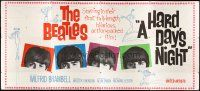 2h020 HARD DAY'S NIGHT 24sh '64 The Beatles in their first hilarious film, rock & roll classic!