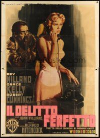 2h178 DIAL M FOR MURDER Italian 2p '54 Hitchcock, different Martinati art of Grace Kelly & Milland!