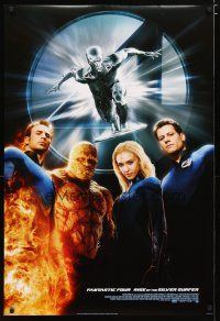 2m012 4: RISE OF THE SILVER SURFER style B int'l DS 1sh '07 Jessica Alba, Chiklis, Chris Evans!