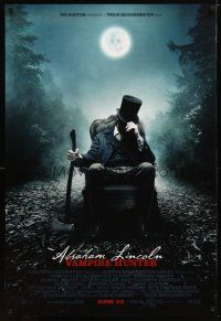 2m023 ABRAHAM LINCOLN: VAMPIRE HUNTER style A revised advance DS 1sh '12 Benjamin Walker w/axe!