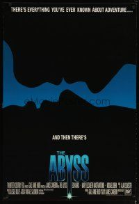 2m024 ABYSS int'l 1sh '89 directed by James Cameron, Ed Harris, Mary Elizabeth Mastrantonio!