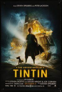 2m030 ADVENTURES OF TINTIN teaser DS 1sh '11 Steven Spielberg's version of the French cartoon!