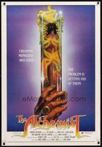 2m033 ALCHEMIST 1sh '85 directed by Charles Band, sexy monster in a test tube art!