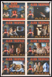 2m038 ALIEN TRESPASS 1sh '09 creepying, crawling nightmare of terror, cool lobby card style!