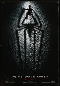 2m041 AMAZING SPIDER-MAN b&w style teaser DS 1sh '12 shadowy image of Andrew Garfield!