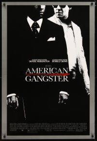 2m043 AMERICAN GANGSTER DS 1sh '07 Denzel Washington, Russell Crowe, Ridley Scott directed!