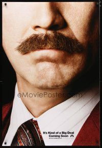2m047 ANCHORMAN: THE LEGEND CONTINUES teaser DS 1sh '13 great close-up of Will Ferrell's 'stache!