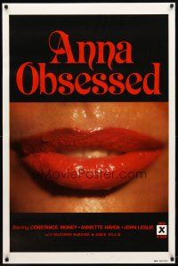 2m048 ANNA OBSESSED 1sh '77 Constance Money, Annette Haven, Jamie Gillis, sexy lips!