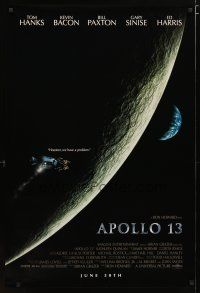 2m049 APOLLO 13 advance 1sh '95 directed by Ron Howard, Tom Hanks, Houston, we have a problem!