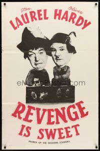 2m065 BABES IN TOYLAND 1sh R60s great image of Laurel & Hardy, Revenge is Sweet!