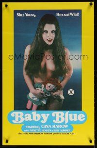 2m066 BABY BLUE 1sh '78 sexy Gina Harow w/doll, she's young, hot & wild!