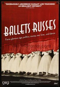 2m072 BALLETS RUSSES 1sh '05 Russian exile ballet documentary, cool image!