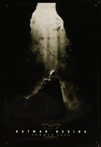 2m080 BATMAN BEGINS summer 2005 style teaser DS 1sh '05 Christian Bale as the Caped Crusader!
