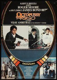 2p018 OCTOPUSSY English Belgian '83 images of Roger Moore as James Bond w/Vijay Amritraj!