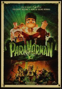 2p047 PARANORMAN advance Canadian 1sh '12 you don't become a hero by being normal!