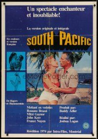 2p048 SOUTH PACIFIC Canadian 1sh R74 Rossano Brazzi, Mitzi Gaynor, Rodgers & Hammerstein musical!