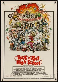 2p074 ROCK 'N' ROLL HIGH SCHOOL Italian 1sh '79 artwork of the The Ramones by William Stout!