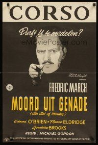 2p038 ACT OF MURDER Dutch '48 Fredric March, a story that will stun you with its frankness!
