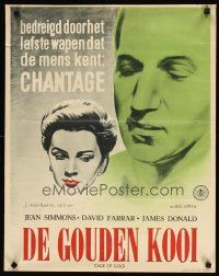 2p039 CAGE OF GOLD Dutch '51 Jean Simmons is blackmailed & accused of bigamy by her husband!