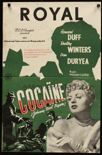 2p040 JOHNNY STOOL PIGEON Dutch '49 Howard Duff & sexy Shelley Winters, directed by William Castle