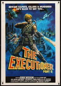 2p020 EXECUTIONER PART II South African '84 James Bryan directed, action art of Chris Mitchum!