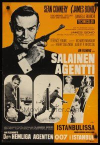 2p003 FROM RUSSIA WITH LOVE Finnish R1960s Sean Connery is Ian Fleming's James Bond 007, different!