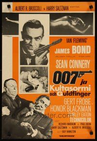 2p002 GOLDFINGER Finnish R60s great images of Sean Connery as James Bond + gold Shirley Eaton!