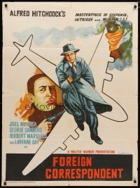 2p032 FOREIGN CORRESPONDENT Indian R60s Alfred Hitchcock, Joel McCrea, Laraine Day