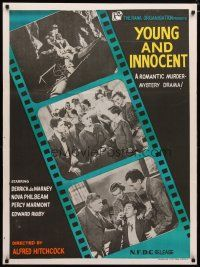 2p034 YOUNG & INNOCENT Indian R60s Alfred Hitchcock, romantic murder mystery!