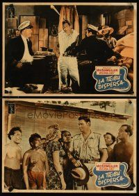 2p080 LOST TRIBE set of 10 Italian 13x18 pbustas '49 Johnny Weissmuller as Jungle Jim!