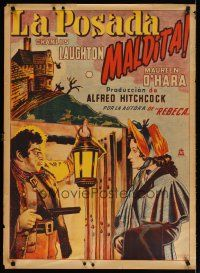 2p028 JAMAICA INN Mexican poster '39 Alfred Hitchcock, art of Leslie Banks & Maureen O'Hara!