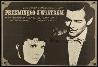 2p071 GONE WITH THE WIND Polish 27x38 R79 Erol art of Clark Gable & Vivien Leigh, all-time classic