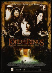 2p035 LORD OF THE RINGS: THE FELLOWSHIP OF THE RING DS Engish Thai poster '01 montage of top cast!