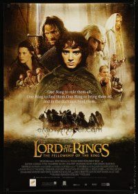 2p037 LORD OF THE RINGS: THE FELLOWSHIP OF THE RING DS Engish Thai poster '01 top cast over horses!