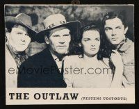 3a0068 OUTLAW Danish program '62 Jane Russell, Jack Buetel, Howard Hughes, different images!