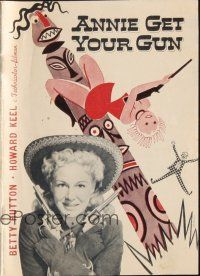 3a0009 ANNIE GET YOUR GUN Danish program '50 different images of Betty Hutton & Howard Keel + art!