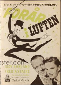 3a0024 EASTER PARADE Danish program '49 Judy Garland, Fred Astaire, Irving Berlin, different art!