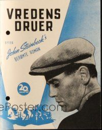 3a0032 GRAPES OF WRATH Danish program '40 Henry Fonda, Steinbeck, John Ford classic, different!