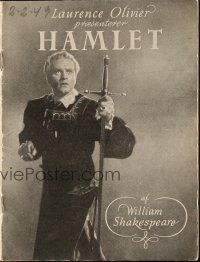 3a0033 HAMLET Danish program '48 Laurence Olivier in William Shakespeare classic, different!
