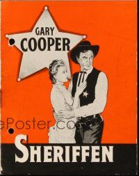 3a0036 HIGH NOON Danish program '52 Gary Cooper, Grace Kelly, Fred Zinnemann, different images!