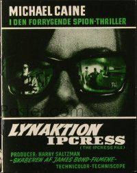 3a0041 IPCRESS FILE Danish program '65 cool different images of spy Michael Caine!