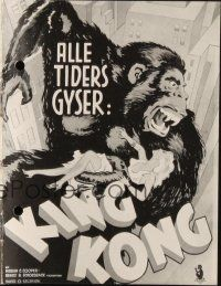 3a0044 KING KONG Danish program R50s art of Kong holding Fay Wray exposing her breast!