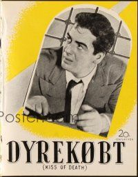3a0045 KISS OF DEATH Danish program '49 different images of Victor Mature, film noir classic!