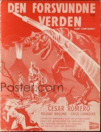 3a0049 LOST CONTINENT Danish program '51 modern man against prehistoric monster, different!