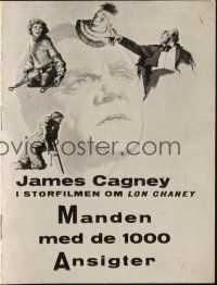 3a0052 MAN OF A THOUSAND FACES Danish program '57 James Cagney as Lon Chaney Sr., different images!