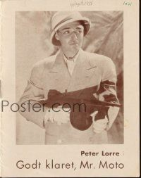 3a0055 MR. MOTO TAKES A CHANCE Danish program '38 different images of Asian detective Peter Lorre!